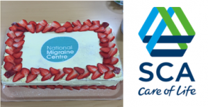SCA cake and logo